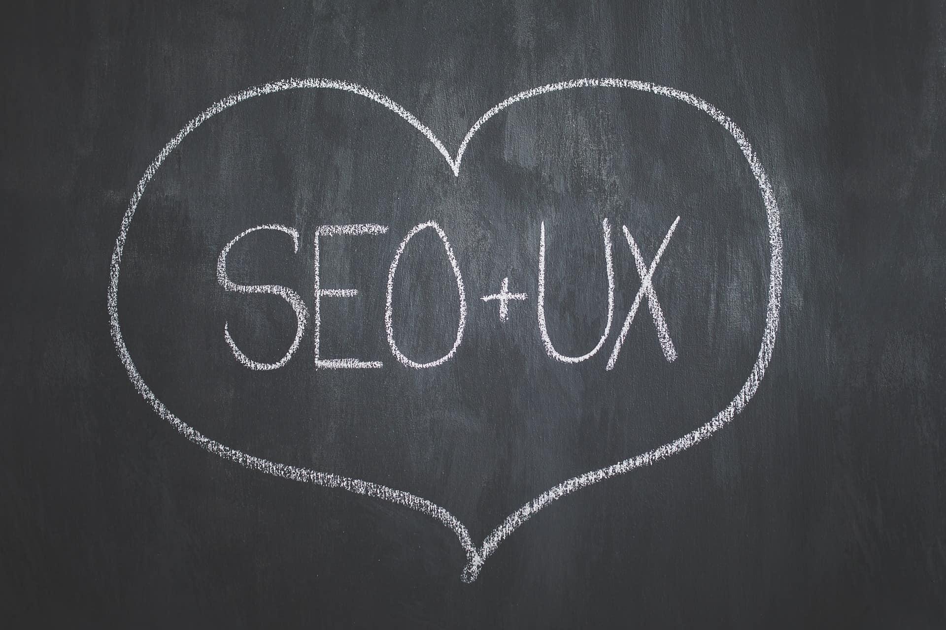 SEO & UX Chalkboard