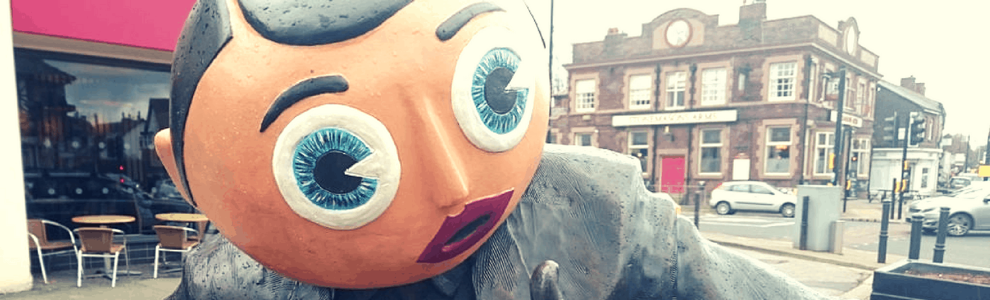 Frank Sidebottom's Statue In Timperley